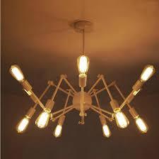modern brass mid century sputnik atomic chandelier starburst light fixture loft american style spider chandelier 8
