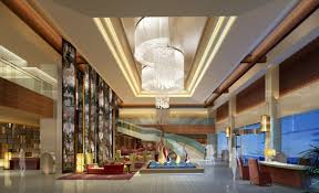 Interior:Futuristic Hotel Lobby Design Architecture Modern Creative Hotel  Lobby Design With Beauty Ceiling Lights