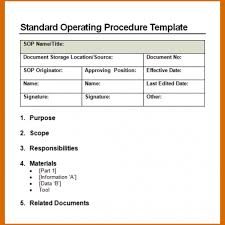 standard operating procedure template word 14 standard operating procedures templates authorizationletters org