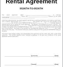 Basic Rental Agreement Template Blank Rental Agreement Template