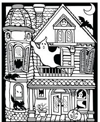 Free Printable Halloween Haunted House Coloring Pages Coloring Pages