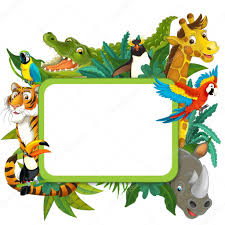 cartoon safari frame border photo by agaes8080