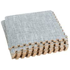 interlocking foam floor mats. Unique Foam Dooboe Interlocking Foam Mats U2013 Floor   Tiles Linen Look For T