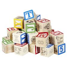 alphabetical wood blocks for youngsters