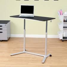 custom standing desk kidney shaped mid. Amazing Cheap Stand Up Desks Black Finish Wood Top Powder Coated Steel Frame Adjustable Height Legs Custom Standing Desk Kidney Shaped Mid R