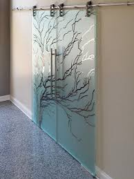 Glass door designs Office View Larger Image Chicago Glass Etched And Sandblasted Sliding Doors Creative Mirror Shower Etched Sliding Glass Doors Dividers Creative Mirror Shower