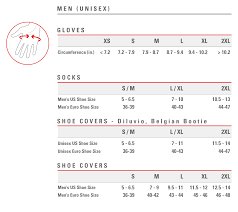 Uk Glove Size Conversion Chart Size Chart Castelli