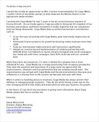 Sample Business Recommendation Letter 7 Examples In Word Pdf
