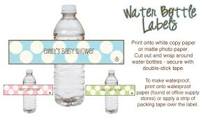 Decorating Water Bottles For Baby Shower Free Water Bottle Labels For Baby Shower Template Best And 21