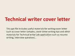 Cover Letter Free Example Entry Level Technical Writer Cover Letter