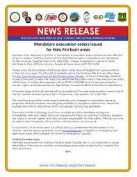 Mandatory Evacuation Orders Issued Inland Regional Center