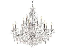 metropolitan lighting vintage chrome 12 lights 34 5 wide chandelier