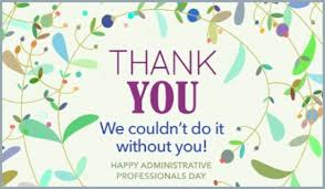 Administative Day Thank You Ecard Free Administrative Professionals Day Cards Online