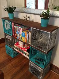 best 25 milk crates ideas on milk crate shelves diy ottoman and shoe storage crates