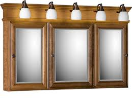 cabinet and lighting. Strasser Tri View Medicine Cabinet With Three Mirror Doors And Lights Lighting
