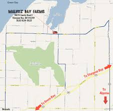 Directions to Malvitz Bay Farms located in Door County Wisconsin ...