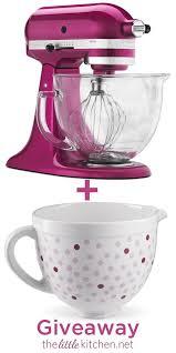 kitchenaid raspberry ice stand mixer ceramic bowl giveaway thelittlekitchen net