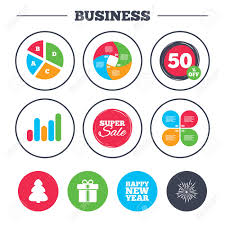 Chart On Happy New Year Business Pie Chart Growth Graph Happy New Year Icon Christmas