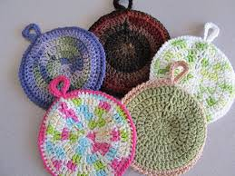 Crochet Potholder Patterns Custom Circular Potholders The Caped Crocheter