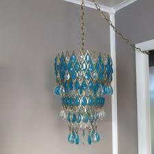 hollywood regency lighting. hanging light lamp hollywood regency mid century vintage chandelier turquoise lighting r