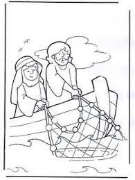 Small Picture The miraculous catch of fish coloring pages glue fish crackers