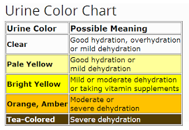 Urine Color Chart Amber Urine Color Chart For Dehydration Ehealthstar