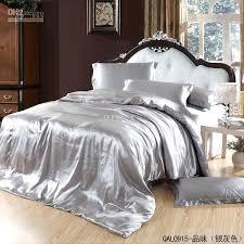 satin duvet covers grey silver silk satin bedding set king size queen quilt duvet cover bed