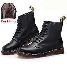 hiking boots men shoes winter boots snow shoes men waterproof leather martens boots doc martins botas fur lined warm shoes woman