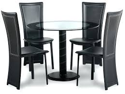 glass dining sets 4 chairs glass round dining table and 4 chairs set coco round black