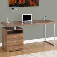 monarch specialties contemporary um walnut computer desk