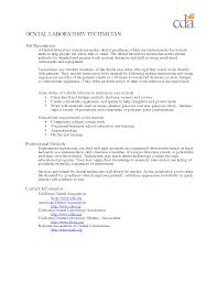 Interesting Lab Tech Resume Objective On Dental Laboratory