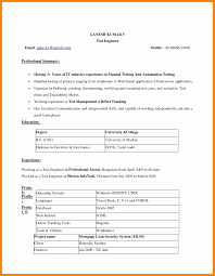 Resume Format Free Download For Experience Resume Format Free