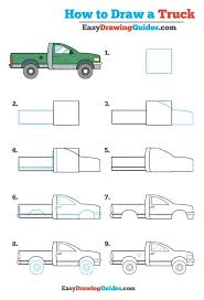 How to Draw a Truck – Really Easy Drawing Tutorial | art | Easy ...