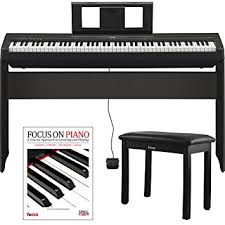yamaha p45. yamaha p45 88 weighted keys digital piano w/ l85 furniture stand ,knox bench w