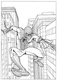 Small Picture Coloring Pages Of Spiderman Cool Spiderman Coloring Pages Color