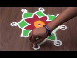 Small Picture Simple Rangoli Design and Small rangoli Design YouTube