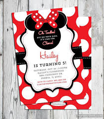 Minnie Mouse Invitation Red Printable Minnie Mouse Birthday Party
