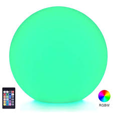 loftek led light up ball 6 inch rgb color changing glow ball with remote