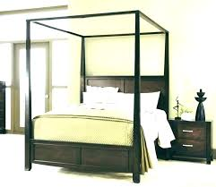 Queen Wood Canopy Bed Modern Wood Canopy Bed Full Size Of Queen ...
