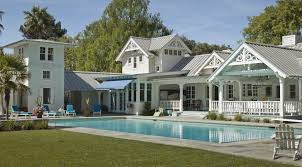 Modern White Interior Pool House Ideas That Can Be Decor With Fence