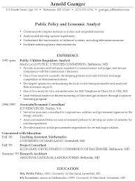 resume for summer job