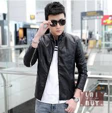 men unique fashion design pu leather jacket