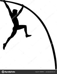 vault gymnastics silhouette. Pole Vault Silhouette \u2014 Stock Vector Gymnastics E