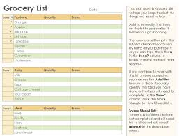 grocery checklist grocery checklist grocery list template