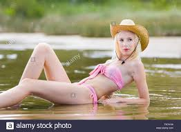 Teen blonde bikini girls