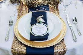 Blue And Gold Table Setting Navy And Gold Wedding Theme Navy And Gold Wedding Ideas Party