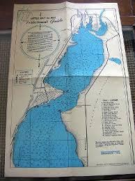 Little Bay De Noc Depth Chart Vintage 1956 Mi Fishermens Guide Map Up Little Bay De Noc