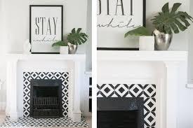 funky moracean tile fireplace