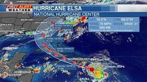 Category 1 Hurricane Elsa moves into ...