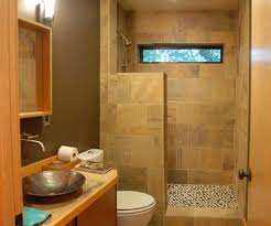 Brown Painted Bathrooms Small Walk In Shower No Door Natural Light For Walk In Shower